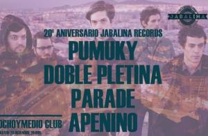 Entradas PUMUKY + DOBLE PLETINA + PARADE + APENINO
